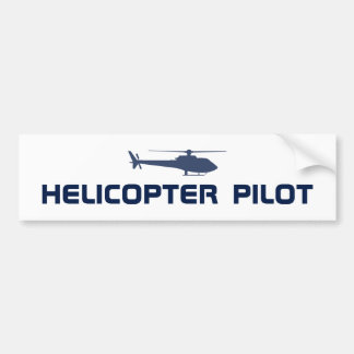 Helicopter pilot bumper sticker