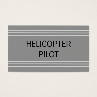 Helicopter Pilot Business Card