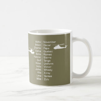 Helicopter Pilot Phonetic Alphabet and Choppers Coffee Mug