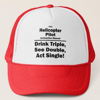 helicopter pilot trucker hat