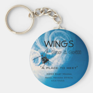 Helicopter Pilots-Business-Bar Logo Basic Round Button Key Ring