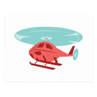 Helicopter Postcard