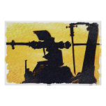 Helicopter Rotor - Sunset Poster