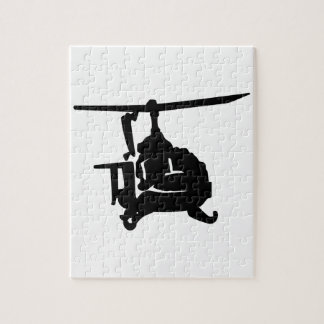 Helicopter Silhouette Jigsaw Puzzle