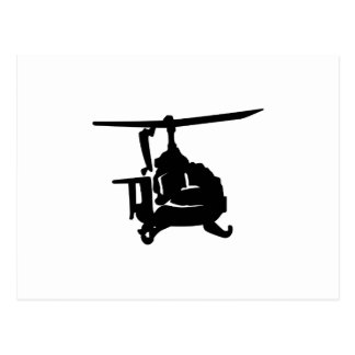 Helicopter Silhouette Postcard