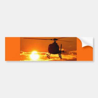 helicopter sundown bumper sticker