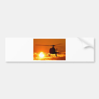 helicopter sundown bumper sticker