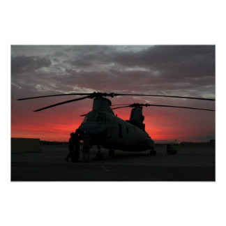 Helicopter Sunrise Posters
