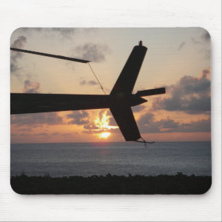 Helicopter Sunset Mouse Mat