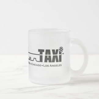 Helicopter Taxi Frosted Glass Mug