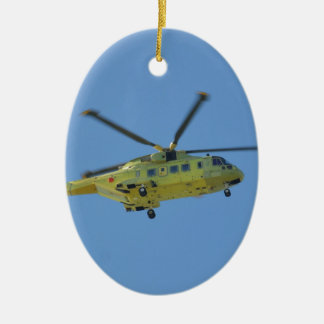 Helicopter to The Isles of Scilly Christmas Ornament