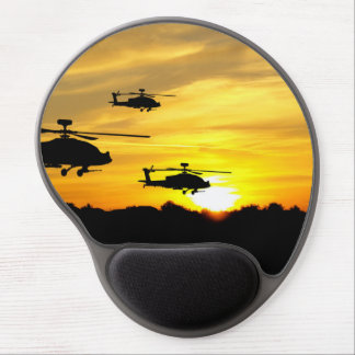 Helicopters at Sunrise Gel Mouse Mat
