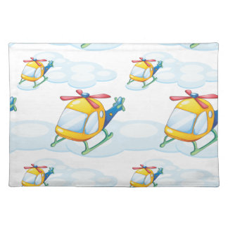 helicopters placemat