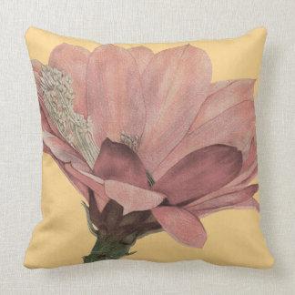 Heliocereus Speciosus - Pink Cactus Throw Pillow