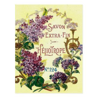 Heliotrope Savon Postcard