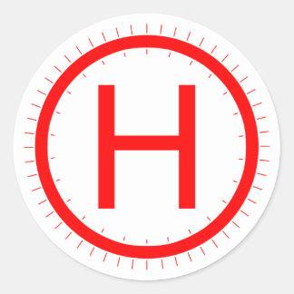 Helipad - classic round sticker