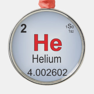 Helium Individual Element of the Periodic Table Christmas Ornament