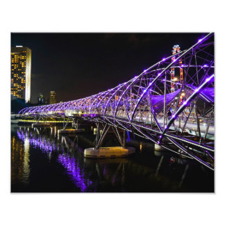 Helix Bridge, Singapore - Photo Print