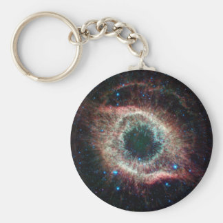 Helix in Infrared Basic Round Button Key Ring
