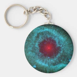 Helix Nebula Basic Round Button Key Ring