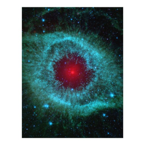 Helix Nebula, Beautiful Stars in the Galaxy Flyer Design