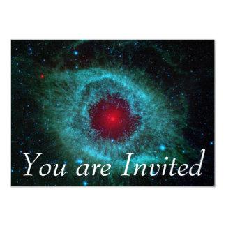 Helix Nebula, Beautiful Stars in the Galaxy 11 Cm X 16 Cm Invitation Card