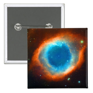 Helix Nebula, Galaxies and Stars Button
