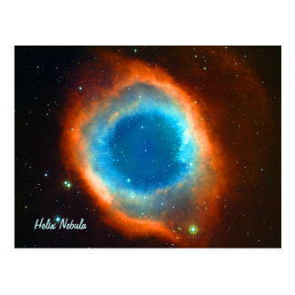 Helix Nebula, Galaxies and Stars Postcard