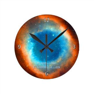 Helix Nebula, Galaxies and Stars Round Clock