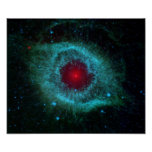 Helix Nebula in space Poster