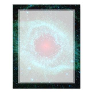 Helix Nebula Infrared Spitzer Custom Flyer
