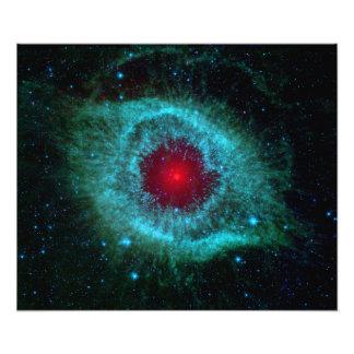 Helix Nebula Infrared Spitzer Photo Print