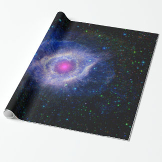 Helix Nebula NASA Space Astronomy Purple Wrapping Paper