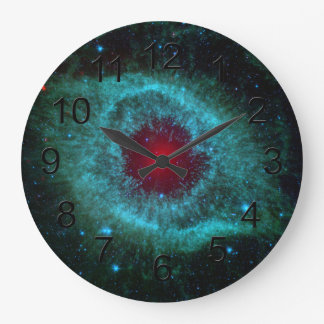 Helix Nebula Space Astronomy Science Photo Large Clock