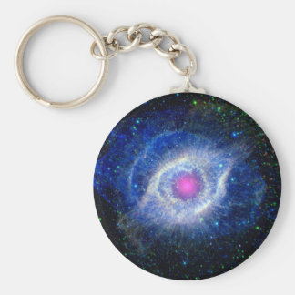 Helix Nebula Ultraviolet Basic Round Button Key Ring