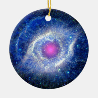 Helix Nebula Ultraviolet Eye of God Space Photo Christmas Ornament