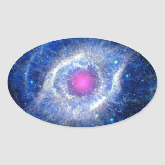 Helix Nebula Ultraviolet Eye of God Space Photo Oval Sticker
