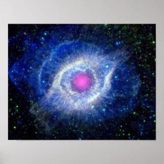 Helix Nebula Ultraviolet Eye of God Space Photo Poster