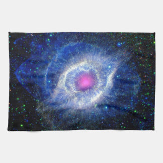 Helix Nebula Ultraviolet Eye of God Space Photo Tea Towel