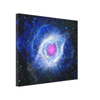Helix Nebula Ultraviolet Gallery Wrap Canvas