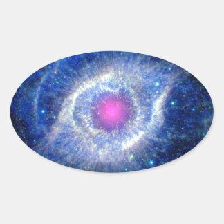 Helix Nebula Ultraviolet Oval Sticker