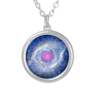Helix Nebula Ultraviolet Silver Plated Necklace