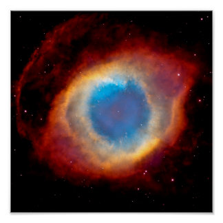 Helix Planetary Nebula NGC 7293 - Eye of God Poster