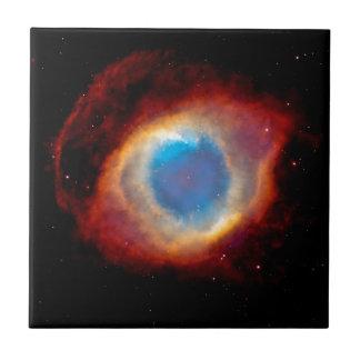 Helix Planetary Nebula NGC 7293 - Eye of God Small Square Tile