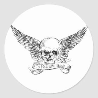 Hell and Back Classic Round Sticker