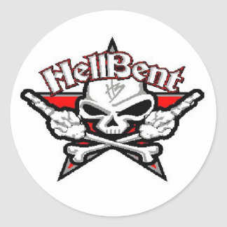 hell bent 1 classic round sticker