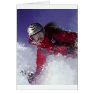 Hell Bent for Powder Greeting Card