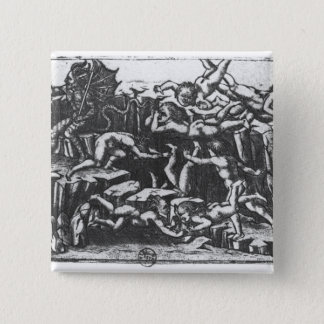 Hell, from 'The Divine Comedy' 15 Cm Square Badge