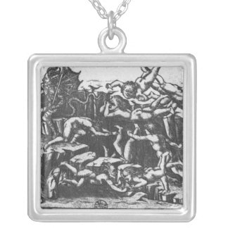 Hell, from 'The Divine Comedy' Silver Plated Necklace