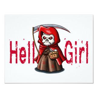 Hell Girl 11 Cm X 14 Cm Invitation Card